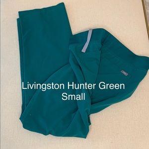 Figs scrubs hunter green Livingston's small